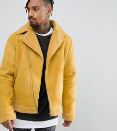 Свободная байкерская куртка The New County - Желтый