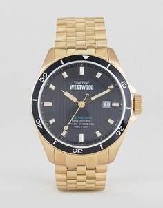Золотистые часы-браслет Vivienne Westwood VV181NKGD - Золотой