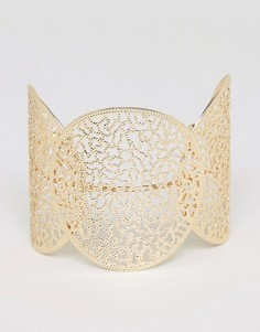Массивный браслет-манжет с вырезами Nylon - Золотой