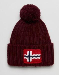 Бордовая шапка-бини Napapijri - Красный