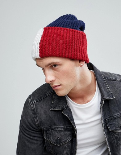 Темно-синяя шапка-бини Tommy Hilfiger - Темно-синий