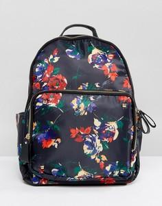 Рюкзак с цветочным принтом Yoki - Темно-синий