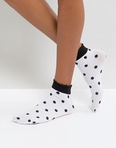 Носки в горошек и точку Leg Avenue - Белый