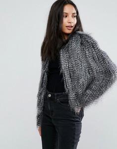 Куртка с искусственными перьями Urbancode - Серый