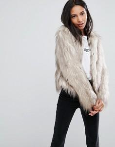Куртка с искусственными перьями Urbancode - Кремовый