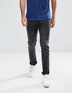 Выбеленные черные узкие джинсы Hoxton Denim - Черный