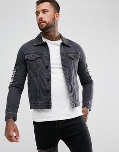Джинсовая куртка Hoxton Denim - Черный