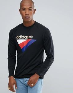 Черный лонгслив adidas Originals St Petersburg Pack Anichkov BS2254 - Черный