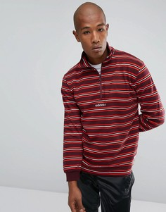 Красный свитшот с молнией до груди adidas Originals Pete BS2272 - Красный