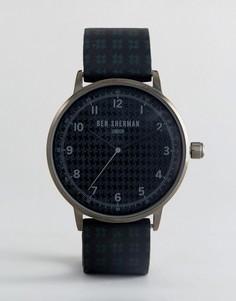 Часы с черным силиконовым ремешком Ben Sherman WB075BUR - Черный