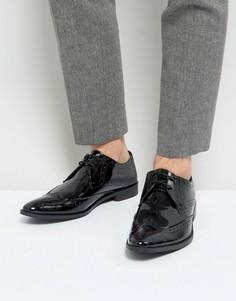 Туфли дерби из лакированной кожи Frank Wright - Черный