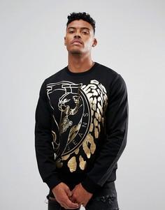 Черный свитшот с принтом тигра Versace Jeans - Черный