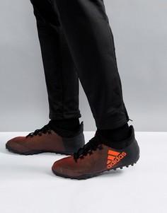 Черные футбольные бутсы adidas X Tango 17.3 Astro Turf CG3728 - Черный