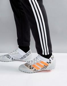 Белые футбольные бутсы adidas Nemeziz x Messi Tango Astro Turf S77193 - Белый