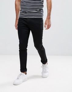 Черные супероблегающие джинсы стретч LDN DNM - Черный