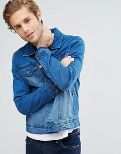 Джинсовая куртка цвета индиго LDN DNM - Синий
