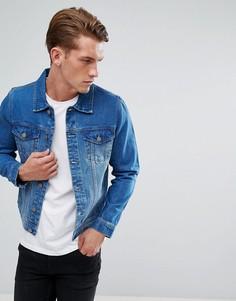 Синяя выбеленная джинсовая куртка LDN DNM - Синий