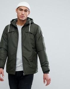 Дутая куртка с капюшоном Jack & Jones - Зеленый