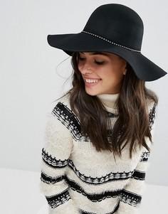 Шерстяная оверсайз-шляпа Only - Черный