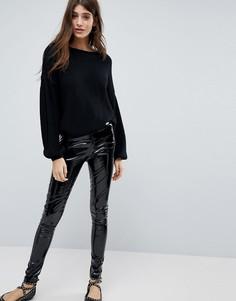 Виниловые леггинсы Glamorous - Черный