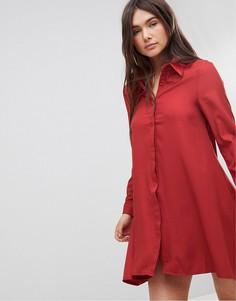 Платье-рубашка Glamorous - Красный