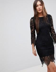 Цельнокройное кружевное платье Glamorous - Черный