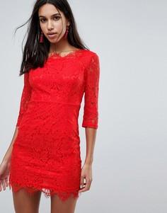 Облегающее кружевное платье Glamorous - Красный