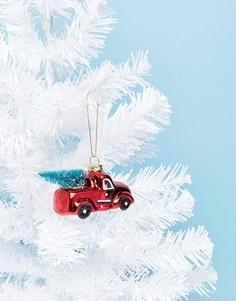 Новогодний елочный шар в виде машины Sass & Belle - Мульти