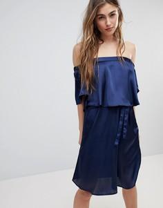 Платье с открытыми плечами Blend She Hanna - Синий