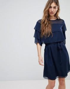 Платье с оборкой Blend She Cecile - Синий