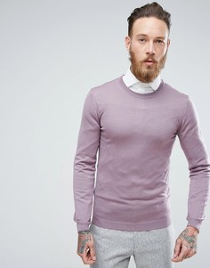 Фиолетовый обтягивающий джемпер из мериносовой шерсти ASOS - Фиолетовый