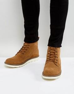 Светло-коричневые замшевые ботинки на шнуровке Dune - Рыжий