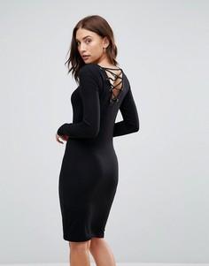 Трикотажное платье Only - Черный
