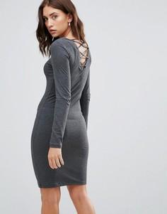 Трикотажное платье Only - Серый