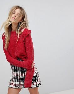 Джемпер с оборками QED London - Красный