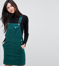 Зеленое вельветовое платье-комбинезон ASOS TALL - Зеленый