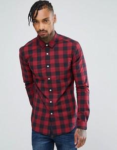 Приталенная рубашка в клетку ASOS - Красный