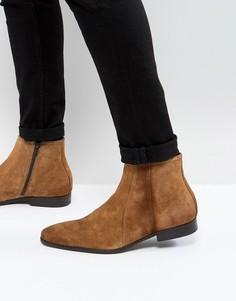 Замшевые ботинки с молнией Zign - Коричневый