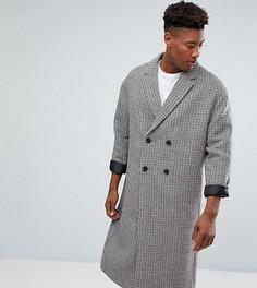 Полушерстяное пальто ASOS TALL - Коричневый