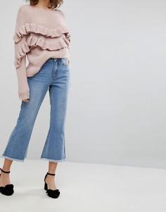 Расклешенные джинсы с необработанными краями Lost Ink - Синий