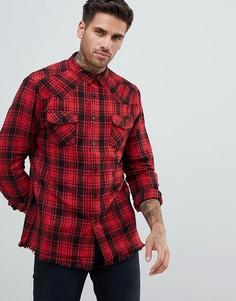 Рубашка в клетку Religion - Красный