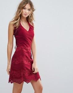 Кружевное платье Deby Debo Zanie - Красный