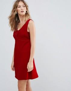 Платье мини с V-образным вырезом Deby Debo Ezra - Красный