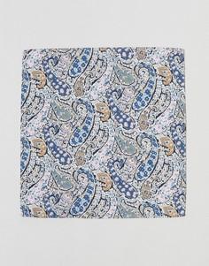 Платок для пиджака с принтом пейсли Gianni Feraud - Синий