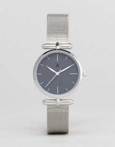 Темно-серые часы ASOS CURVE Premium - Серебряный