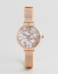 Часы с мраморным эффектом ASOS Premium - Медный