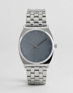 Металлические часы бойфренда ASOS Premium - Серебряный