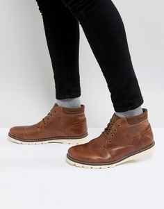 Светло-коричневые ботинки чукка Burton Menswear - Рыжий