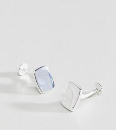 Подарочный набор с серебряными запонками ASOS - Серебряный