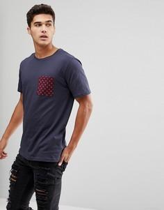 Футболка с карманом Troy - Темно-синий